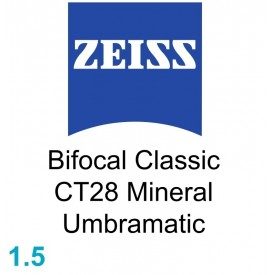 Zeiss Bifocal Classic CT28 Mineral 1.5 Umbramatic