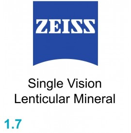 Zeiss Single Vision Lenticular Mineral 1.7