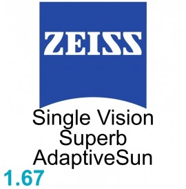 Zeiss Single Vision Superb 1.67 AdaptiveSun